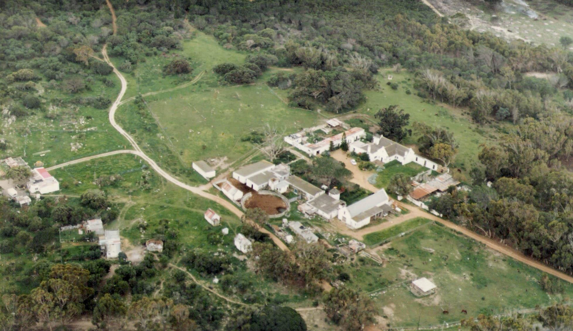 Aerial photo of Imhoff Farm