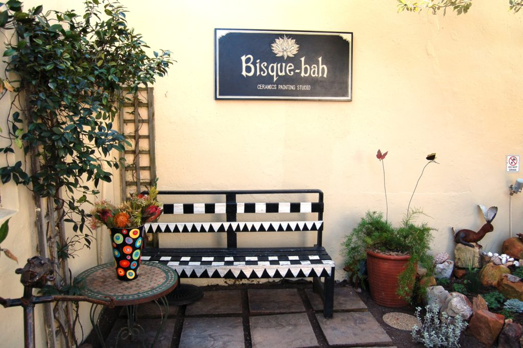 Entrance to Bisque-Bah ceramic studio